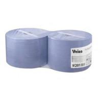 W201 Материал протирочный в рулонах Veiro Prof.Comfort, 2-сл 24*35см,350м, 1000л, синий, 2рул/упак