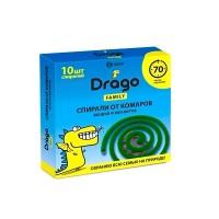 NS-0004 Средство инсектицидное «Спираль от комаров – эффект» Drago  (10 спиралей)