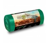 PP-0028 Мешок для мусора ПНД в рулоне  60 л. 55*65 13 мкр (зеленый)  (рул. 25 шт)
