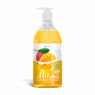 "125418 Жидкое крем-мыло ""Milana"" манго и лайм (флакон 1000 мл)"