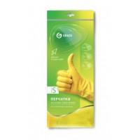 IT-0524 Перчатки хоз. латексные в инд. упаковке,пара. Желтые. размер S