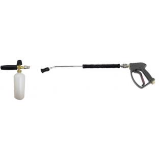 Пенокомплект (ниппель нержавейка, муфта-байонет нержавейка, 250bar), копье L=60cm