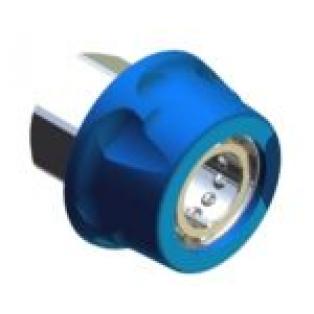 """26.2555.30 Байонет ARS 178 высокого давления 1/2""""г, 250 бар (нерж) в синем пластике."""
