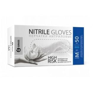 IT-0558 Перчатки нитриловые High Risk синие (короб 50шт) размер M