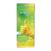 IT-0526 Перчатки хоз. латексные в инд. упаковке,пара. Желтые. размер L