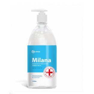 """125435 Жидкое мыло  """"Milana антибактериальное""""  с дозатором (флакон 1000 мл)"""