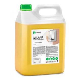 """126105 Жидкое крем-мыло """"Milana"""" молоко и мед канистра 5 кг"""