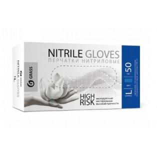 IT-0559 Перчатки нитриловые High Risk синие (короб 50шт) размер L