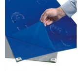 3066115 Многослойный антибактериальный липкий мат, 66x115 толщина 30 листов, синего цвета