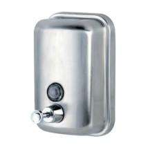 1618/500 Дозатор для жидкого мыла 500 мл (матовая сталь, усиленный),