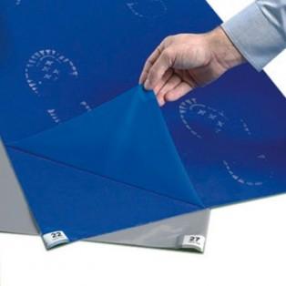 6066115 Многослойный антибактериальный липкий мат, 66x115 толщина 60 листов, синего цвета