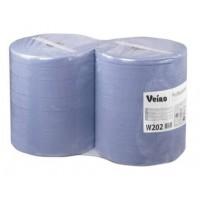 W202 Материал протирочный в рулонах Veiro Prof.Comfort, 2-сл, 33*35см,350м, 1000л, синий, 2рул/упак