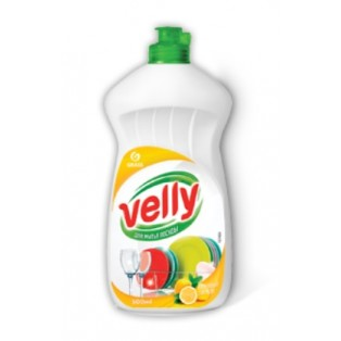 "125426, Средство для мытья посуды ""Velly"" лимон (флакон 500 мл)"
