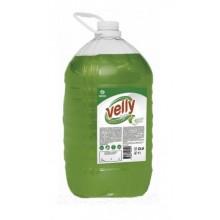 """125469 Средство для мытья посуды """"Velly"""" light (зеленое яблоко) 5кг."""