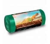 PP-0029 Мешок для мусора ПНД в рулоне  60 л. 55*65 13 мкр (зеленый) (рул. 40 шт)