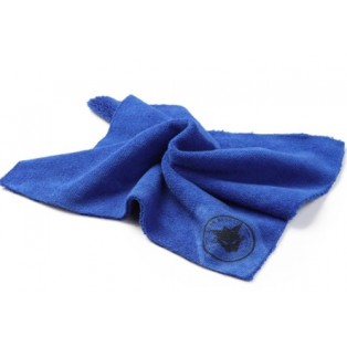 MD17 Салфетка из микрофибры (без обметки краев) 400 г/м2 голубая 40х40см